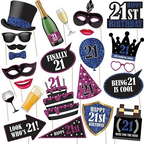 21st Birthday High Quality Props On Sticks