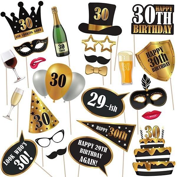 30th Birthday High Quality Props On Sticks