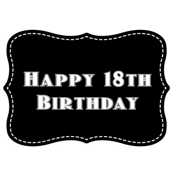 Vintage Happy Birthday Stickers Black And White