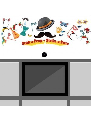 Hat & Mustache 'Look Here' Front Panel – 1192 (w) x 569 (h) mm