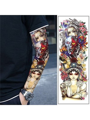 Good v's Bad Sleeve Temporary Tattoo Body Art Transfer No. 42