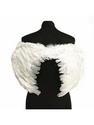 White Feather Angel Wings Medium