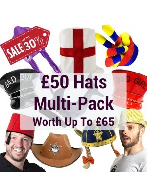 Photo Booth Hats Multi-pack Worth Up to £65