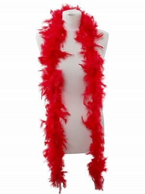 Beautiful Red Feather Boa – 50g -180cm