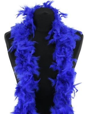 Beautiful Royal Blue Feather Boa – 50g -180cm