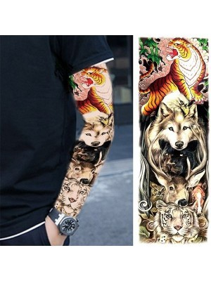 Animal Kingdom Sleeve Temporary Tattoo Body Art Transfer No. 68