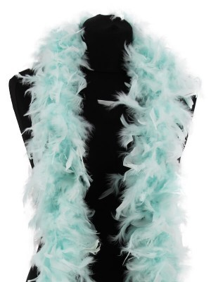 Beautiful Icy Blue Turquoise Feather Boa – 50g -180cm