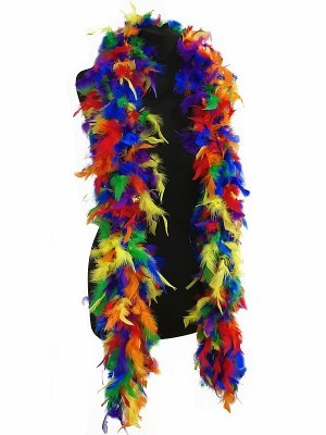 Luxury Multi-Coloured Feather Boa – 80g -180cm