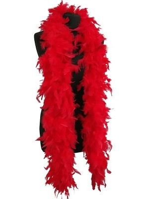 Luxury Red Feather Boa – 80g -180cm