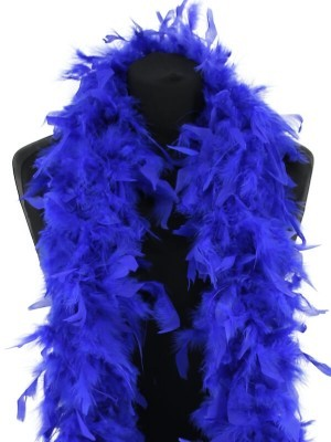 Luxury Royal Blue Feather Boa – 80g -180cm
