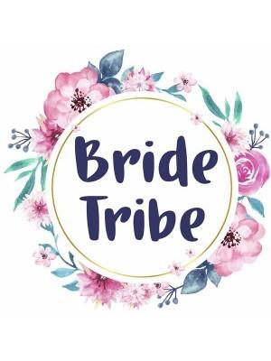 'Bride Tribe' Flower Wreath Wedding Word Board Photo Booth Prop