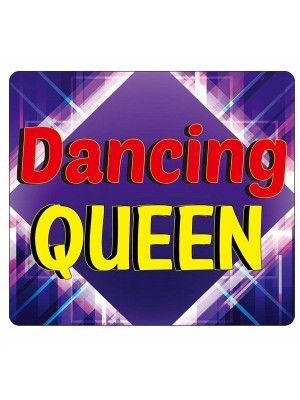 'Dancing Queen' Square Word Board Photo Booth Prop