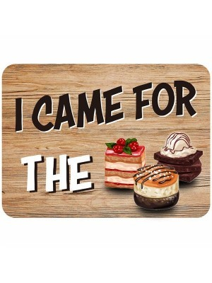 'I Came For The Cake' Rectangle Word Board Photo Booth Prop