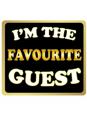 'I'm The Favourite Guest' Square Word Board Photo Booth Prop