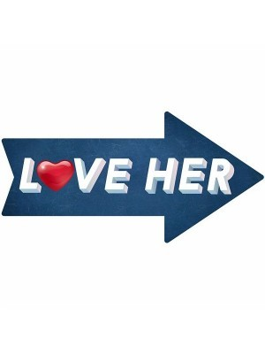 'Love Her' Arrow Word Board Photo Booth Prop
