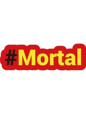 #MORTAL Trending Hashtag Oversized Photo Booth PVC Word Board Sign
