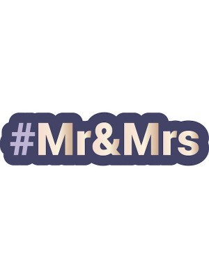 #MR&MRS Trending Hashtag Oversized Photo Booth PVC Word Board Sign