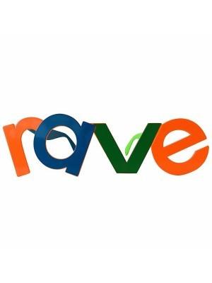 'RAVE' Word Framed Festival Glasses