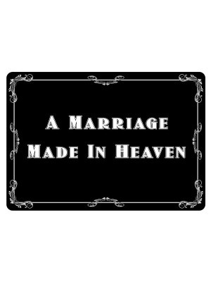 'A Marriage Made in Heaven' Vintage Style Photo Booth Prop
