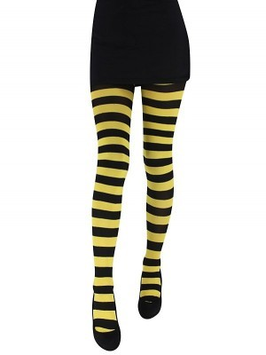 Adult Tights - Yellow & Black Striped