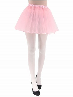 Adult Tutu Skirts with Ribbon Trim - Light Pink