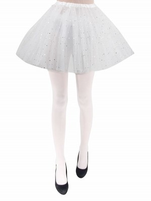 Adult White Tutu Skirts with Stars