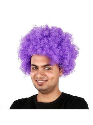 Afro Wig Purple