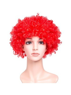 Afro Wig Red
