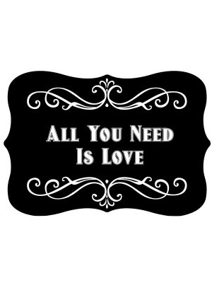 'All You Need Is Love' Vintage Style Valentine Photo Booth Prop