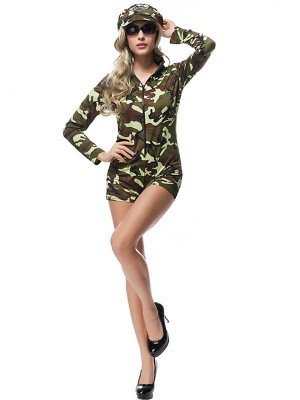 Air Force Army Officer Fancy Dress Costume