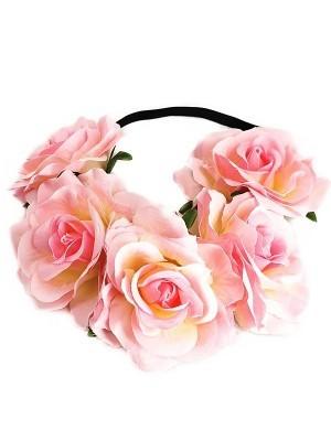 Beautiful Baby Pink Garland Flower Headband