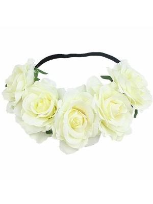 Beautiful Cream Garland Flower Headband
