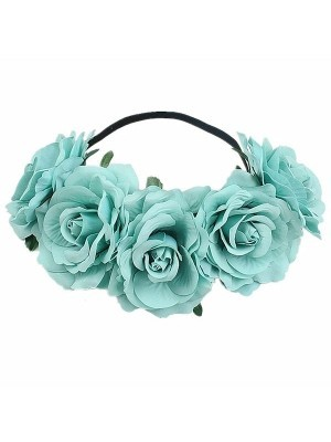 Beautiful Pastel Blue Garland Flower Headband