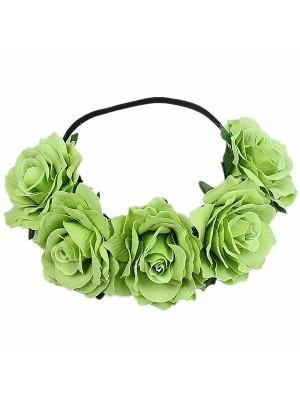 Beautiful Pear Green Garland Flower Headband