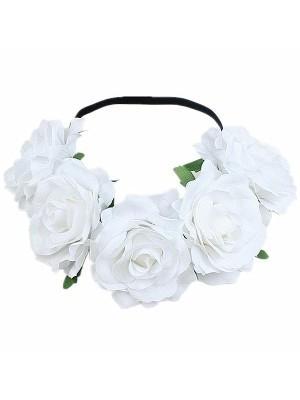 Beautiful White Garland Flower Headband