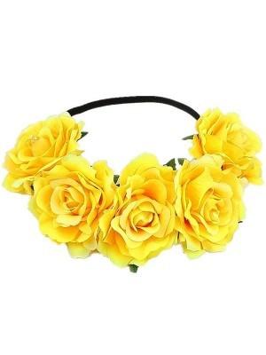 Beautiful Yellow Garland Flower Headband