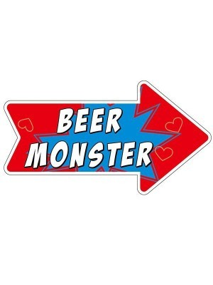 Beer Monster Word Board Photo Booth Prop