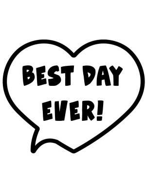 'Best Day Ever!' Valentine Heart Speech Bubble Photo Booth Prop