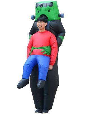 Big Frankie Monster Kidnap Inflatable Illusion Halloween Fancy Dress Costume