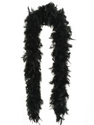 Luxury Black Feather Boa – 80g -180cm