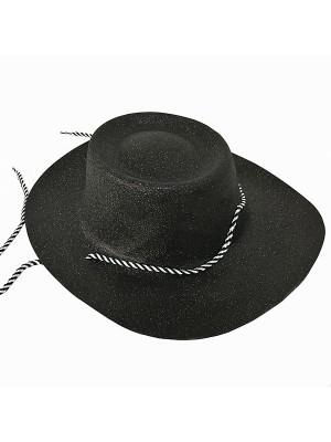 Black Glitzy Cowboy Hat
