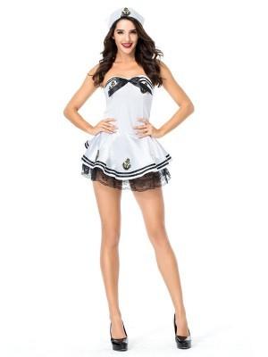 Black & Gold Anchor Sailor Fancy Dress Costume UK Size 8