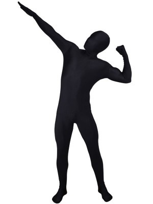 Adult Sized Second Skin Morf Suit In Black