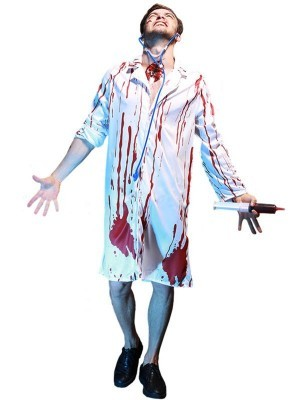 Bloody Doctor Male Fancy Dress Costume