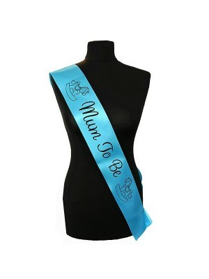 Blue With Black 'Mum To Be' Sash