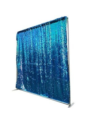 Shimmering Blue Sequin Backdrop