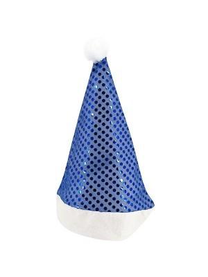Blue Sequin Santa Christmas Hat
