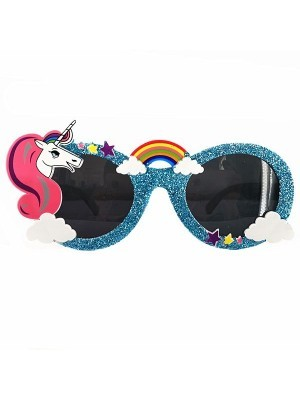 Blue Unicorn Rainbow Sunglasses