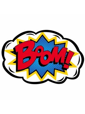'Boom!' Pop Art Style Photo Booth Prop