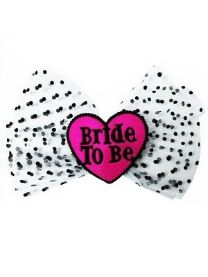 'Bride To Be' Heart Shaped Hair Pin